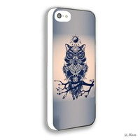 Heru - Cool Owl Tribal Aztec for Iphone 4 4s 5 5s 5c 6 6plus Case (iphone 4/4s white)
