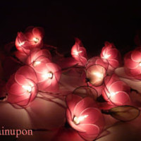 20 PINK FLOWERS STRING PARTY,PATIO,FLORAL,DECOR,CHRISTMAS,WEDDING,BEDROOM LIGHTS
