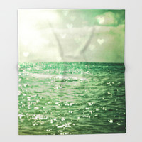 Sea of Happiness Throw Blanket by Olivia Joy StClaire