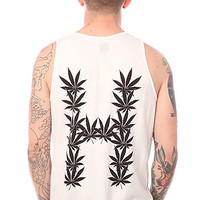 HUF The Leaves Tank in White : Karmaloop.com - Global Concrete Culture