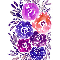 """""""hand painted flowers_2K"""" - Painting Art Print by aticnomar."""