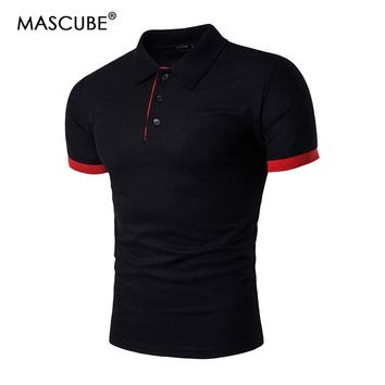 MASCUBE Brand Clothing New Men Polo Shirt Men Business & Casual Solid Male Polo Shirt Short Sleeve Breathable Polo Shirt