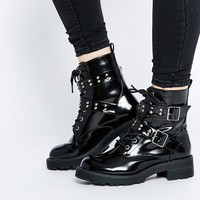ASOS ALLABY Biker Ankle Boots at asos.com