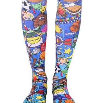 Galaxy Camp Knee High Socks