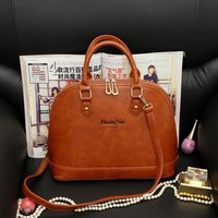 PU Leather Vintage Fashion Bags Stylish Leather Tote Bag [6582286855]