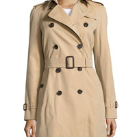 The Westminster - Mid-Length Heritage Trench Coat, Honey, Size: