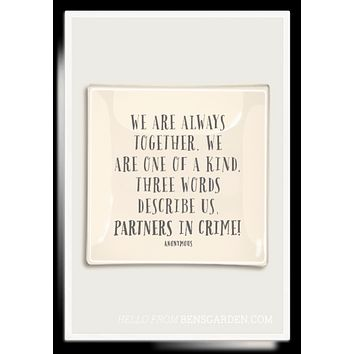 We Are Always Together Decoupage Glass Tray