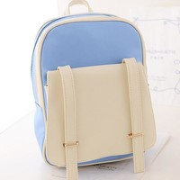 College On Sale Stylish Hot Deal Comfort Back To School Casual Korean Patchwork Sweets Canvas Backpack [6583162119]