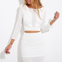 Peace Of Mine Crop Top White