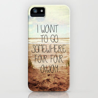 I want to go somewhere far far away iPhone & iPod Case by Sylvia Cook Photography