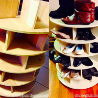 Lazy Susan Shoe Storage Organizer 4-Tier