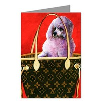 Toy Poodle in Haute Couture Inspired Handbag Notecard Set