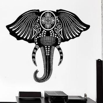 Wall Decal Animal Elephant Cool Tribal Ornament Mural Vinyl Decal Unique Gift (z3167)