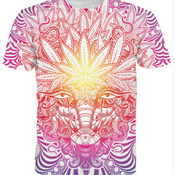 Summer Style 3d t shirt women men Goat T-Shirt psychedelic baphomet style casual