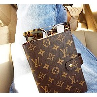 Hipgirls LV Louis Vuitton Hot Sale Fashionable Boys Girls Chic Notebook Portable Hand Book