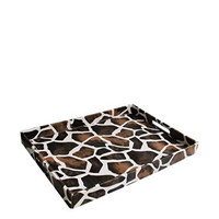 Accents by Jay Giraffe Leather Rectangle Tray