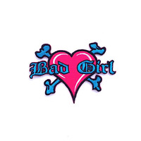 Bad Girl iron on patch