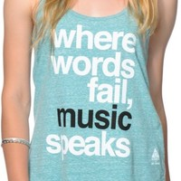 Element x Jac Vanek Music Teal Tank Top