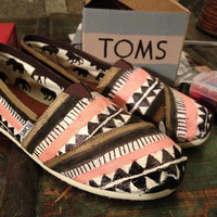 Handpainted Toms by Some Art Student Kid