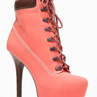 Dollhouse Melon Platfrom Ankle Bootie