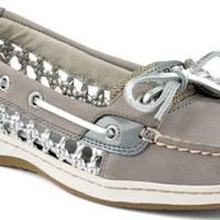 Sperry Top-Sider Angelfish Cane Woven Boat Shoe Gray, Size 5.5M  Women's Shoes