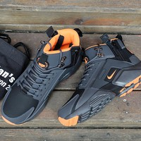 Huarache x Acronym City MID Leather Black/Orange Sneaker Shoes