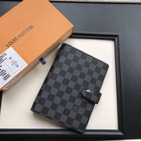 LV Louis Vuitton DAMIER CANVAS NOTE BOOK-KUYOU