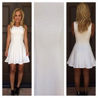 Pure Fit & Flare Dress - WHITE