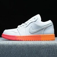NIKE Air Force 1 Low New fashion hook couple shoes White