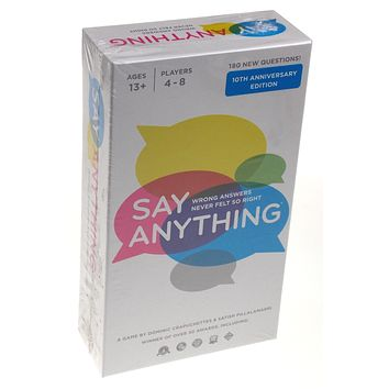 Say Anything 10th Anniversary Edition North Star Games Questions Answers Family
