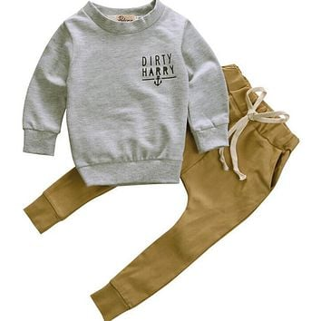 Hoodie Warm Long Pants Casual Hoodies Baby Outfits Set Autumn Winter born Toddler Kids Baby Boys Clothes Set Tops 2pcs