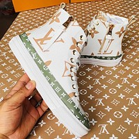 Wearwinds LV hot selling fashion lovers contrast color printed gaobang sneakers