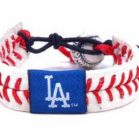 Gamewear MLB Leather Wrist Band - Dodgers Classic Band