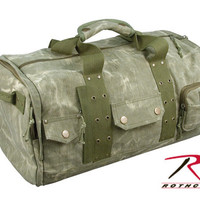Heavtweight Stone Washed Canvas Travel Bag - Olive Drab
