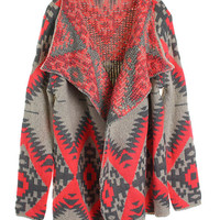 Neon Tribal Cardigan - Pink