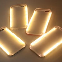 Hot LED Light Phone Case for Iphone 5 6 6s Plus 5se Case cover Light Selfie Led Cover 4 colors
