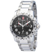 Swiss Army 241196 Men's Alpnach Black Dial Steel Bracelet Chronograph Watch