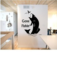 Gone Fishin' Wall Decal