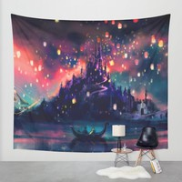 The Lights Wall Tapestry by Alice X. Zhang | Society6