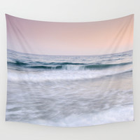 """Pink sunset"". Summer dreams.... Wall Tapestry by Guido Montañés"