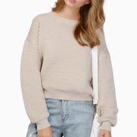 Warm Hearted Crop Sweater