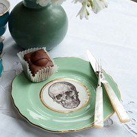 upcycled skull design vintage side plate by melody rose | notonthehighstreet.com