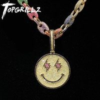 Iced Out Smiling Face Chain