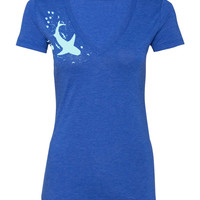 Bycatch V-Neck Tee - Royal