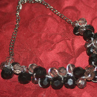 Vintage Chunky Bead Necklace, Retro Beaded Necklace