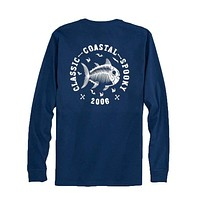 Classic Coastal Spooky Glow in the Dark Long Sleeve T-Shirt in Yacht Blue by Southern Tide