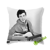 The Shawn Mendes Guitar Music Square Pillow Cover