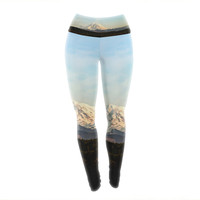 "Sylvia Cook ""Mt. Rainier"" Mountain Photo Yoga Leggings"