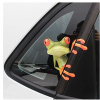 2016 Hot Selling 3D Cute Peep frog funny stickers Truck Vinyl Decal Graphics Auto laptop skin free shipping