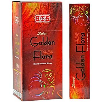 Balaji Golden Flora Incense - 15 Gram Pack (12 Packs Per Box)